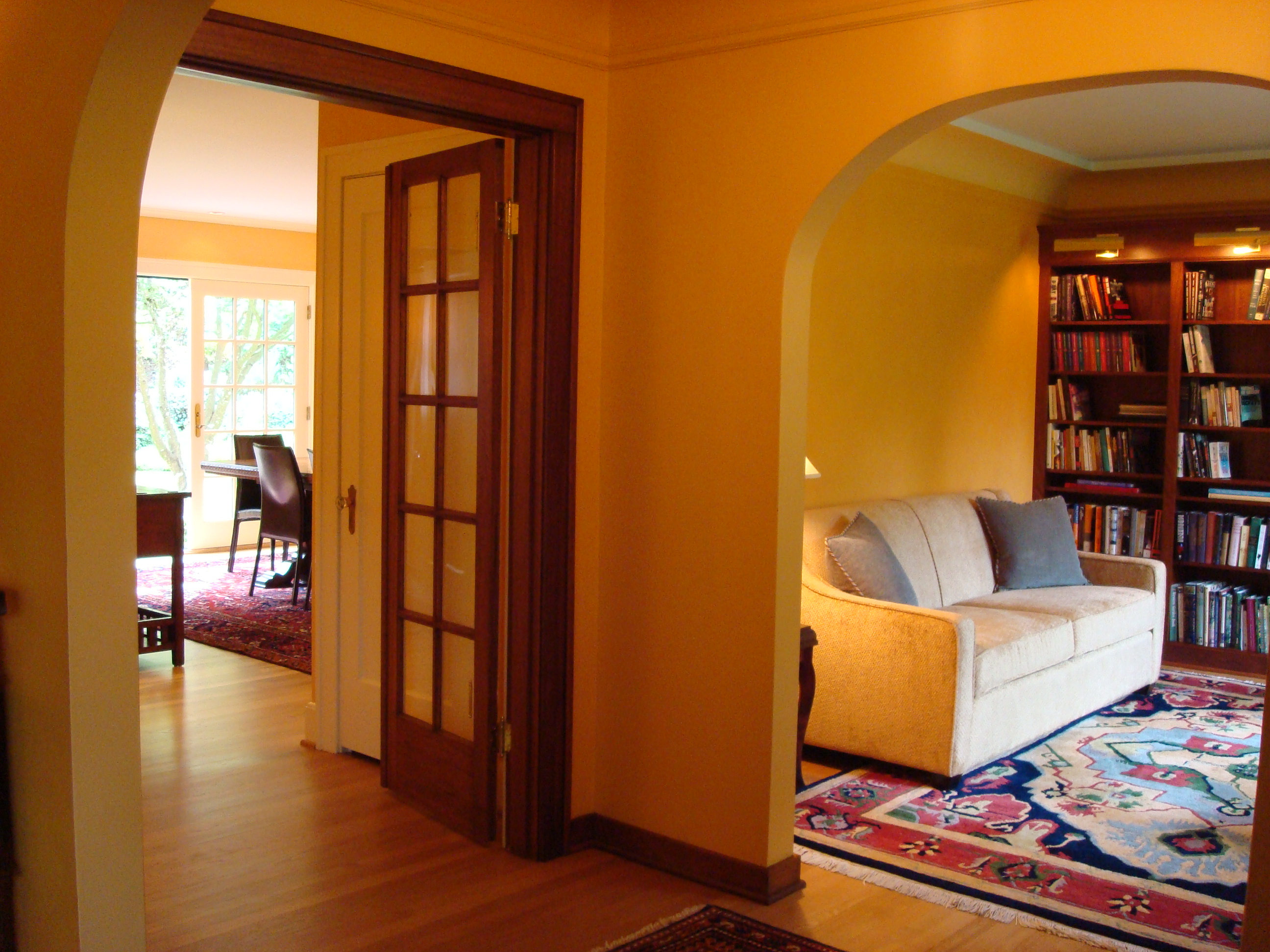 1930s dining room and library remodel robert w cowman for Dining room renovation